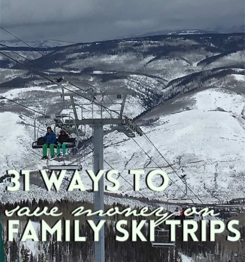 Family Ski Trip Tips to Save Money Skiing. Click over to Carpe Travel for 30 tips to help you save money on your family ski trip.