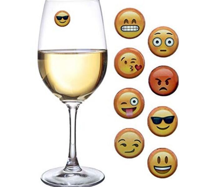 Gifts for wine lovers - Emoji Wine Charms