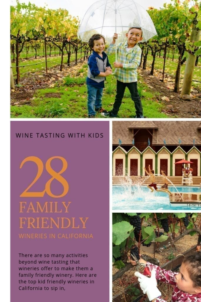 There are so many activities beyond wine tasting wineries offer to make them a family friendly winery. Here are the top kid friendly wineries in California to sip in with your kids.