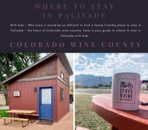 Who knew it would be so difficult to find a family friendly place to stay in Palisade - the heart of Colorado wine country. Here is your guide to where to stay in Palisade with kids.