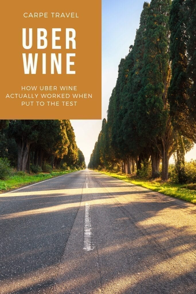 How Uber Wine ACTUALLY Worked When Put to the Test when Wine Tasting in the Santa Ynez Valley