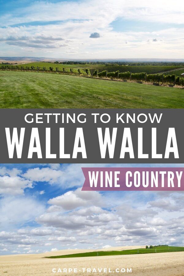 Getting to know Walla Walla Wine Country