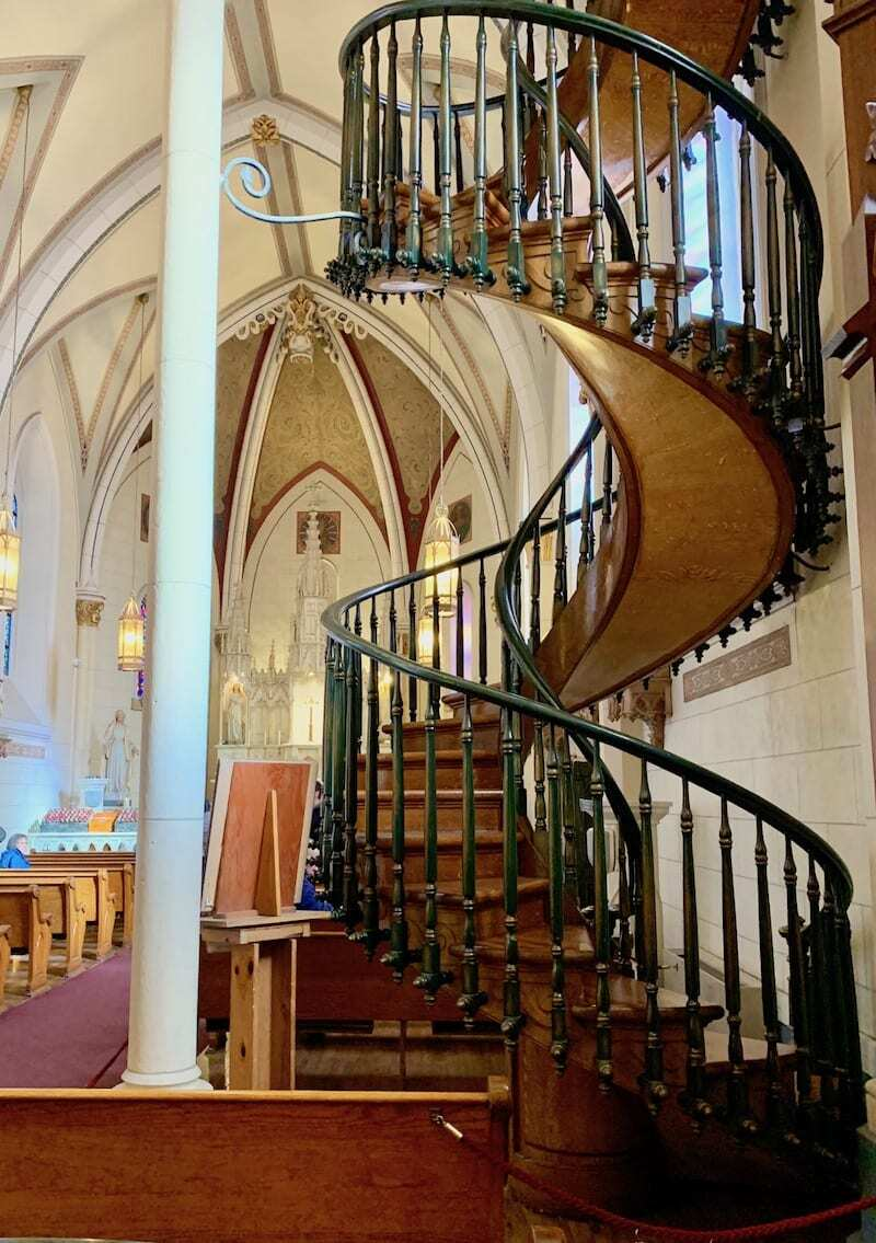 The staircase at the Loretto Chape is one of the top things to do in Santa Fe