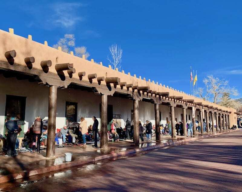 Palace of the Governors is one of the top things to do in Santa Fe - some of the best jewerly can be found at the outside market!