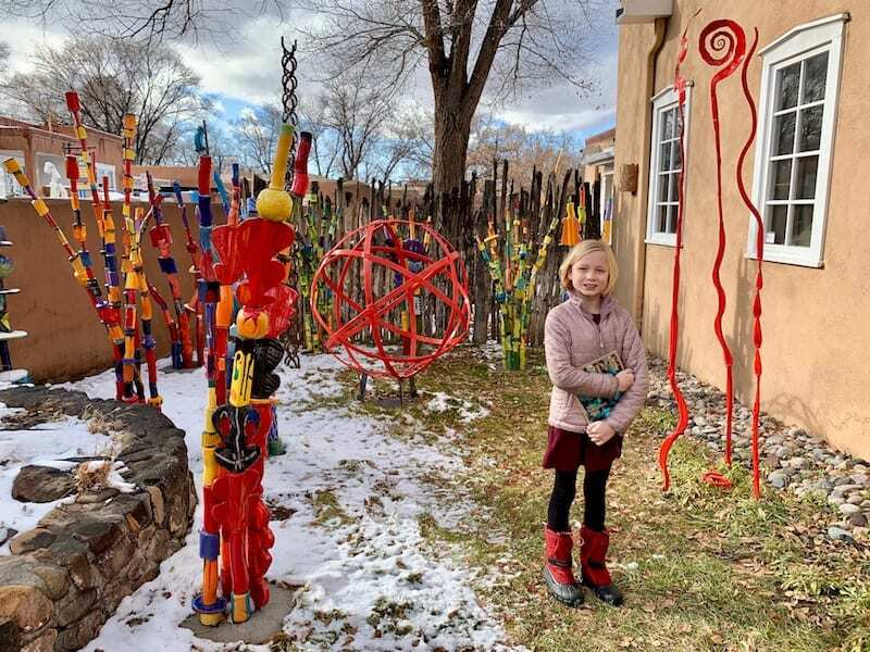 Exploring and shopping on Canyon Road is one the top things to do in Santa Fe
