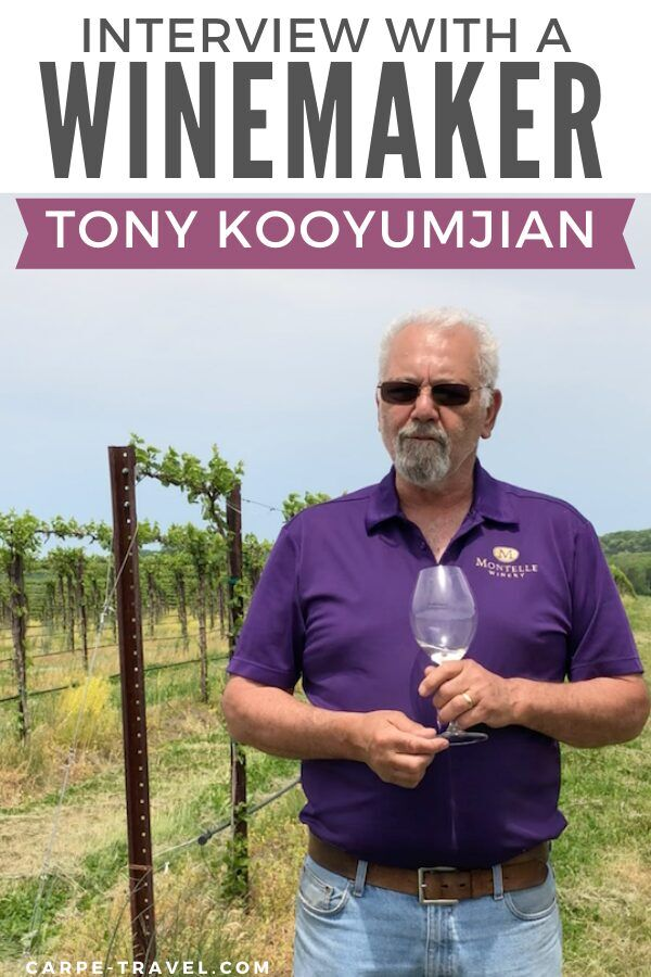 Missouri has a rich history in winemaking. The state's unoffical wine histrorian, Tony Kooyumjian of Montelle Winery spills the juice along with his story in Carpe Travel's Interview with a Winemaker series.