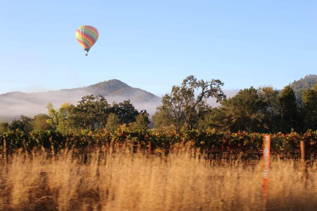 Fun things to do in Napa Valley with kids- hot air balloon rides!