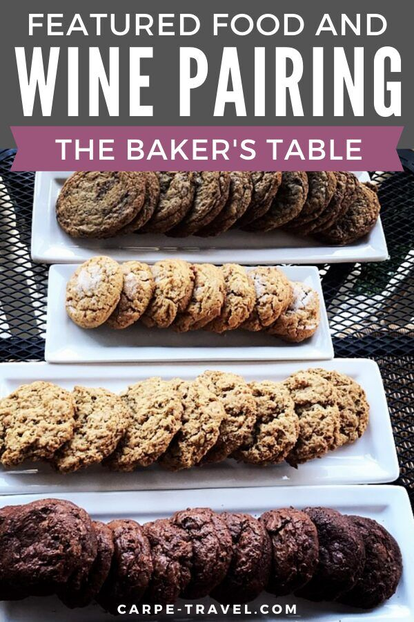 Add a little desert to our food and wine pairing travels through Santa Ynez Valley wine country with this chocolate espresso cookie recipe from The Baker's Table. Find out the perfect wine to pair with these delightful dessert cookies! #wine #winelovers #travelandwine #winepairings #cookies